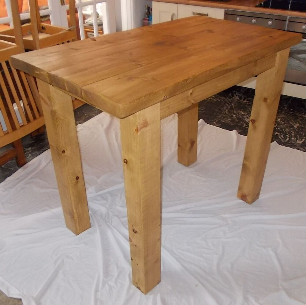 c0a5958e8950 New Hand Made Rustic Plank Breakfast Bar/Kichen Dining Table | eBay