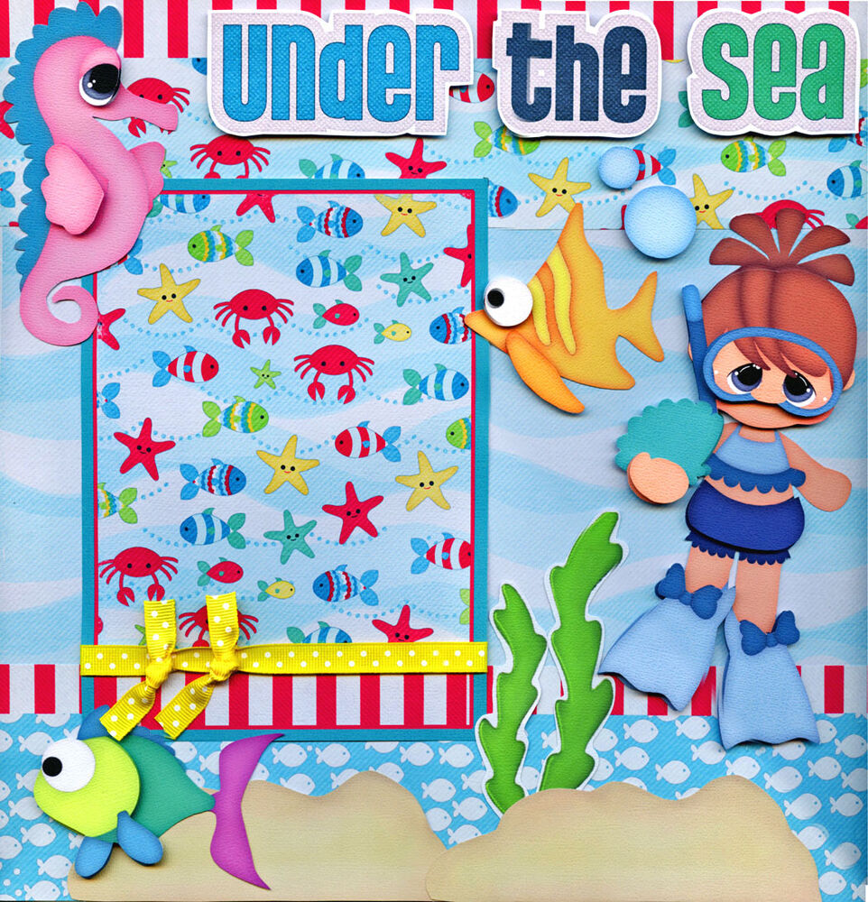 UNDER THE SEA ~ vacation 2 premade scrapbook pages paper ...