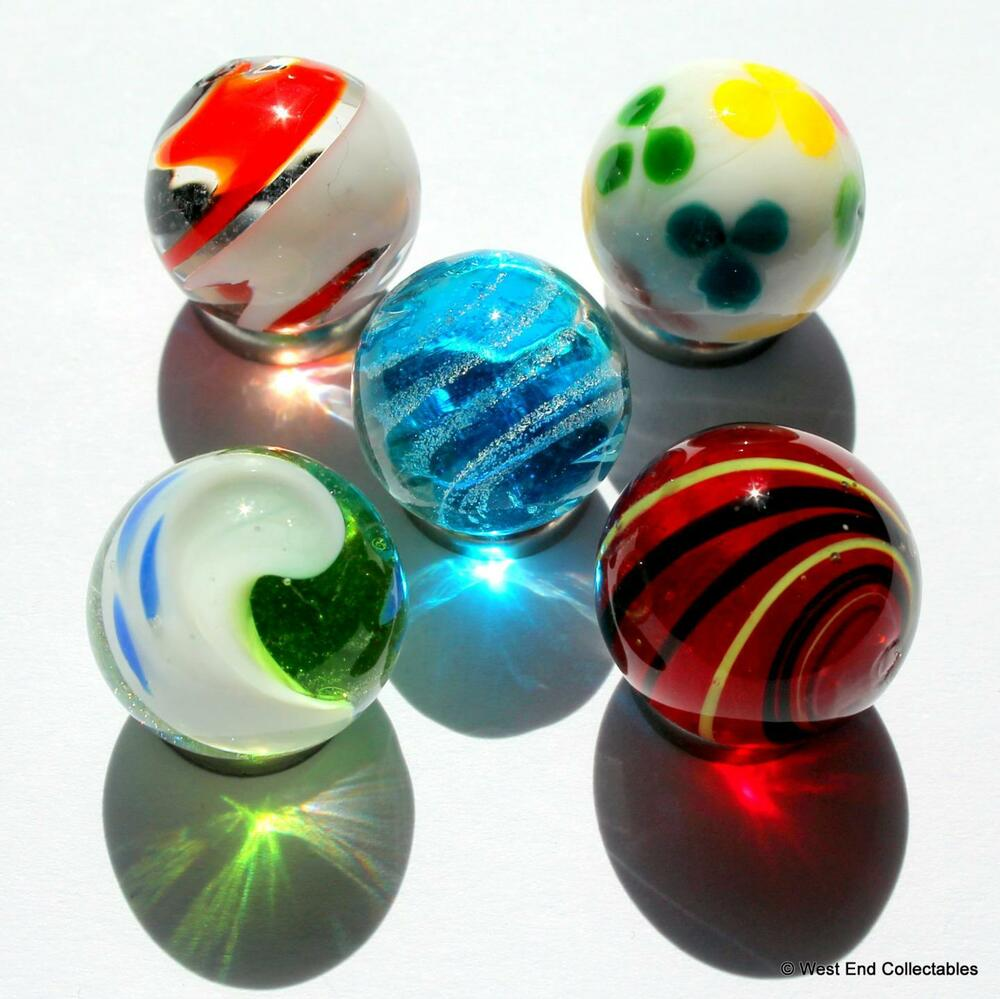 Toys For Marbles : Mm bright handmade glass art toy marbles marble