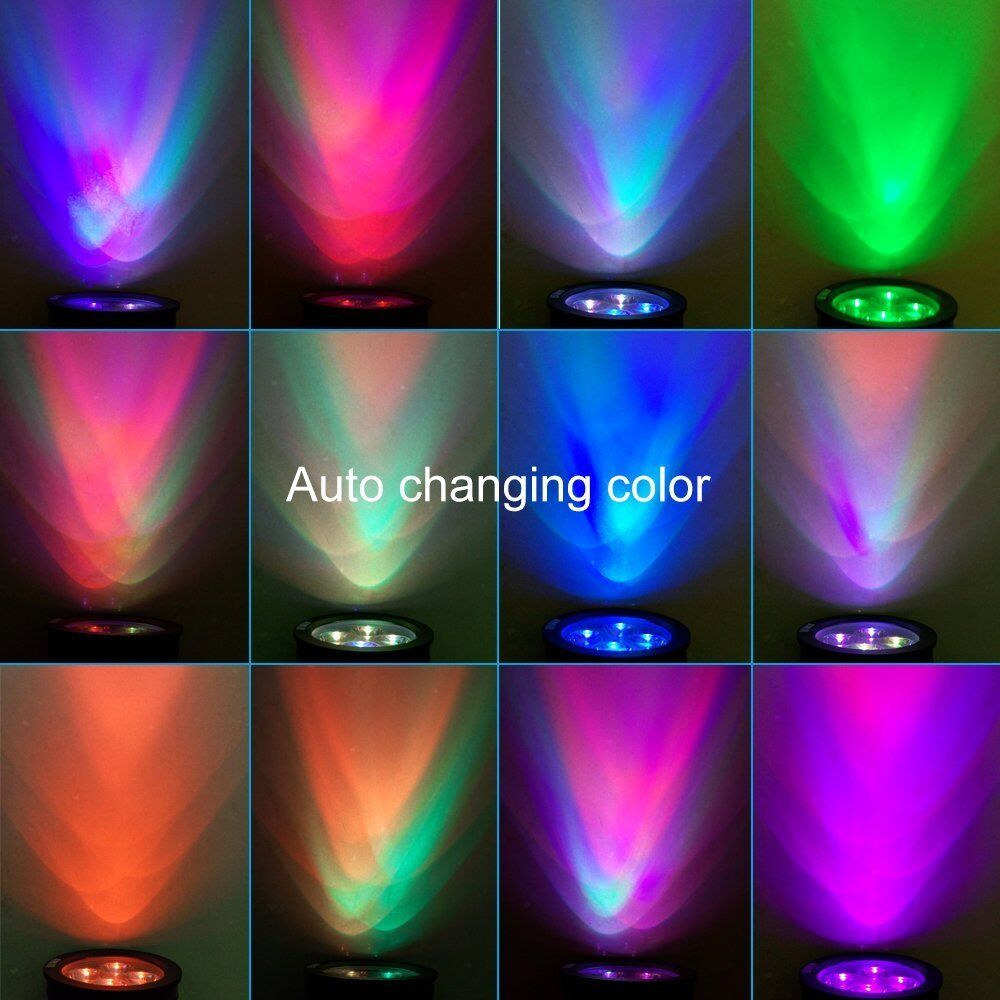 Outdoor Garden Led Solar Landscape Spotlight Wall Light Path Lights Color Change Ebay