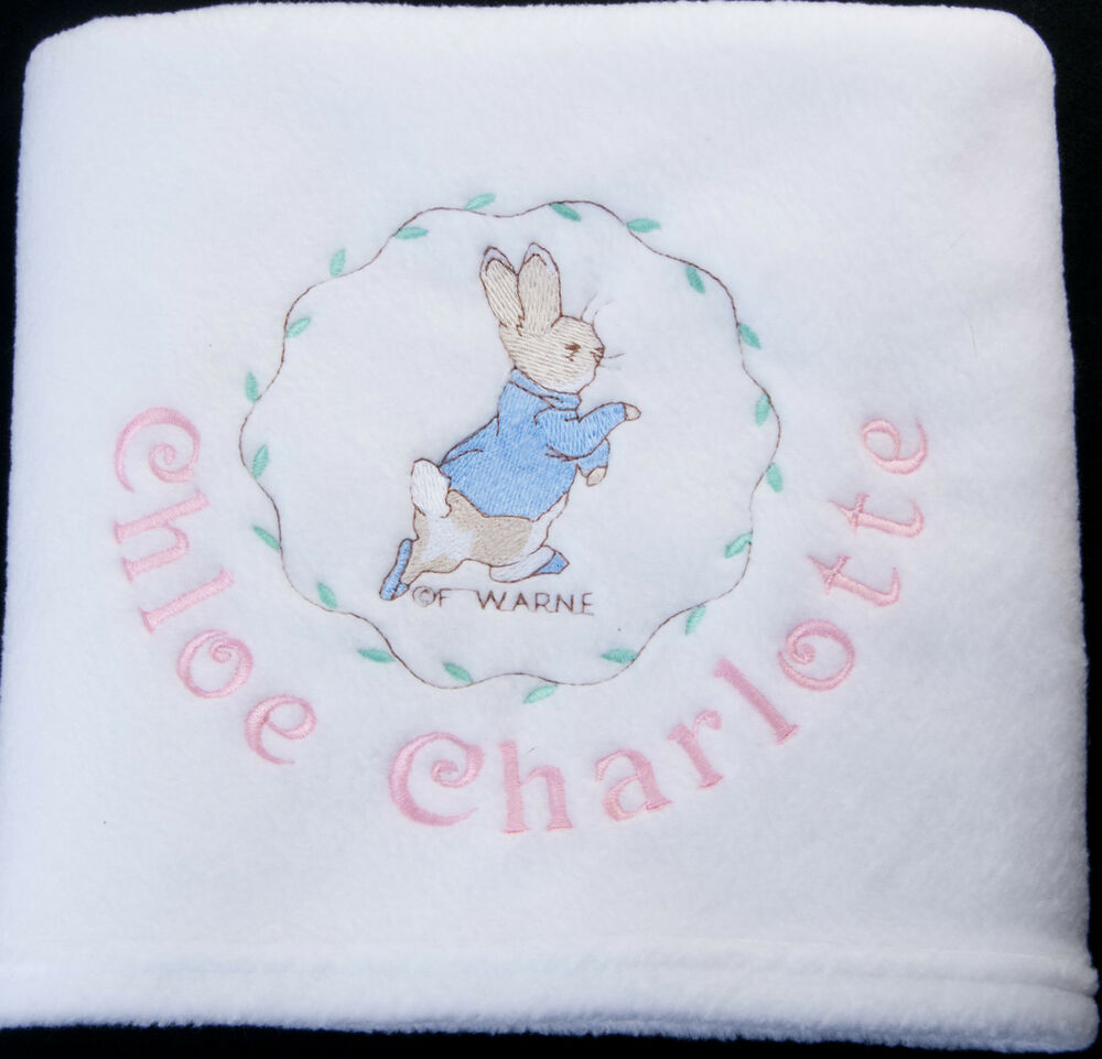 Peter Rabbit Baby Gift Sets : Personalised peter rabbit beatrix potter baby blanket any