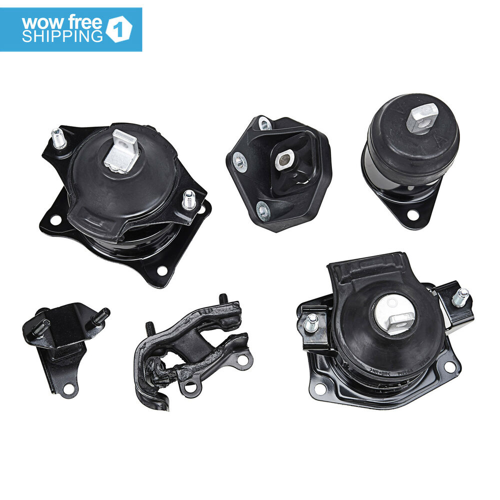 Engine motor trans mount set for 2003 2007 honda accord 3 for Honda accord sport engine