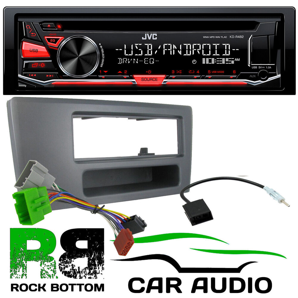 volvo s70 jvc cd mp3 usb aux car stereo player single din fascia rh ebay co uk