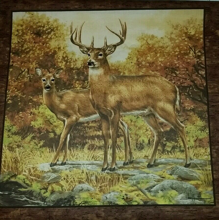 "ACCENT PILLOW SHAM COVER 16"" DOE DEER BUCK HUNTING WOODS"