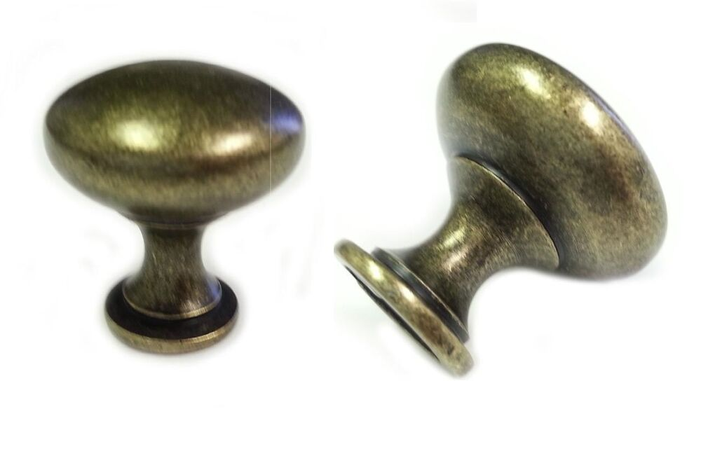 Antique brass round mushroom kitchen cabinet knobs 30mm 1 for 3 kitchen cabinet handles