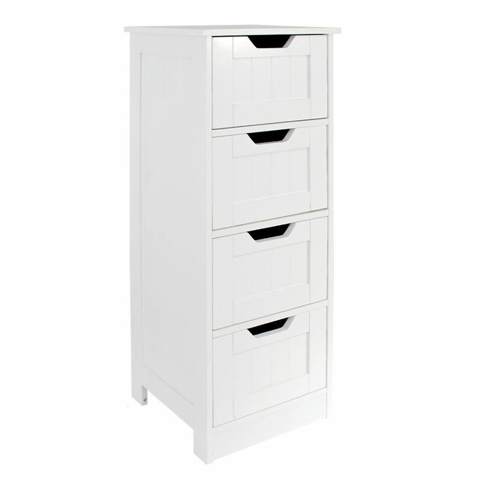 Priano free standing unit 4 drawer bathroom storage tidy Bathroom storage cabinet with drawers