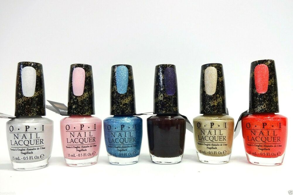 OPI Nail Polish Lacquer LIQUID SAND Assorted Colors of Your Choice ...