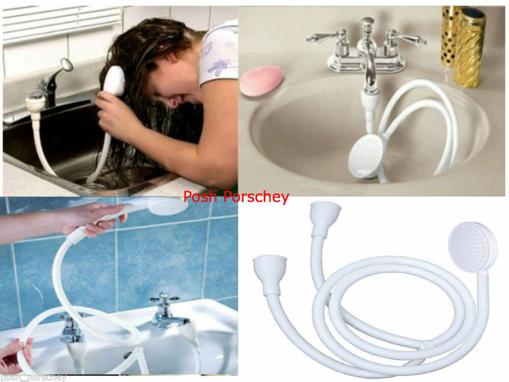 Single Double Tap Bath Sink Shower Head Hose Spray