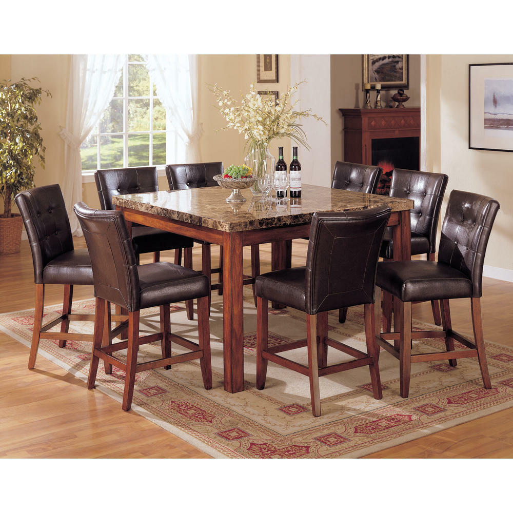 Dining Room Stools: Brand New 9pc Dark Brown Counter Height Dining Room
