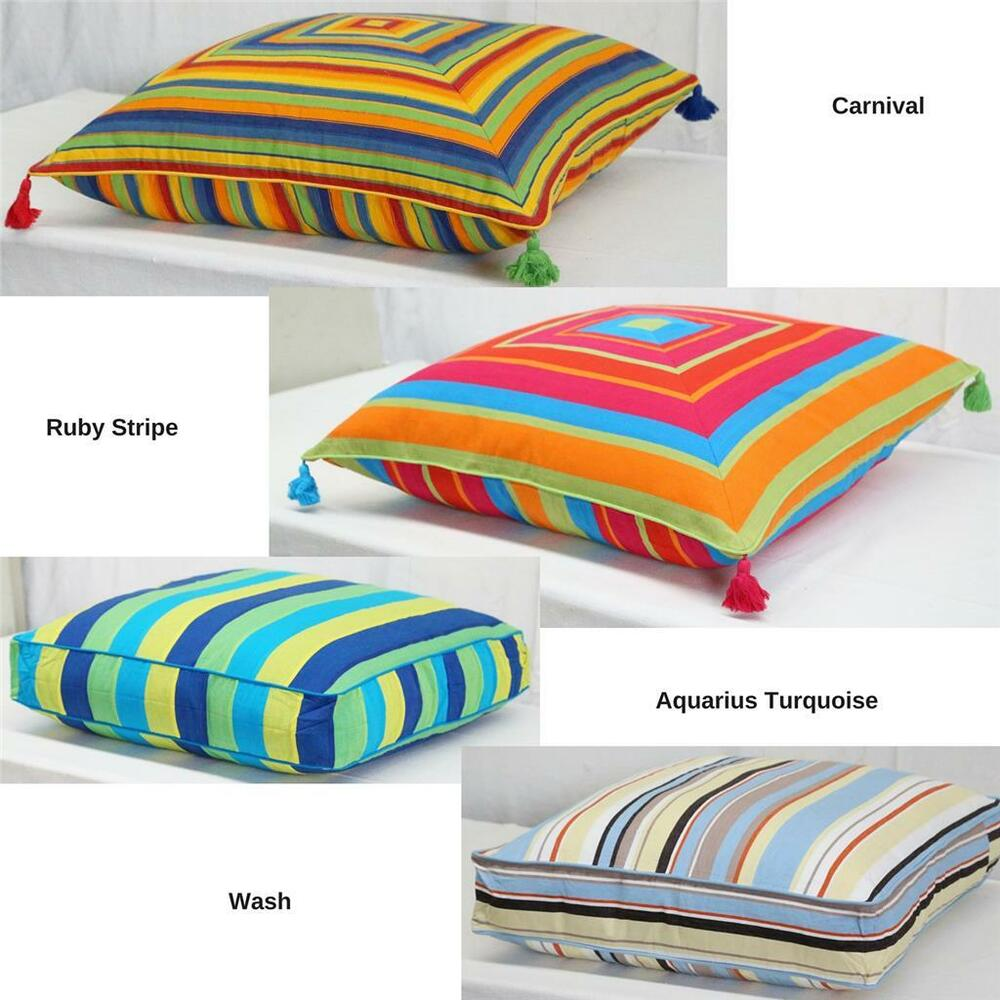 Large Floor Pillow Cases : Floor Cushion Cover Blue Green Pink Orange Yellow Large Scatter Pillow Case New eBay
