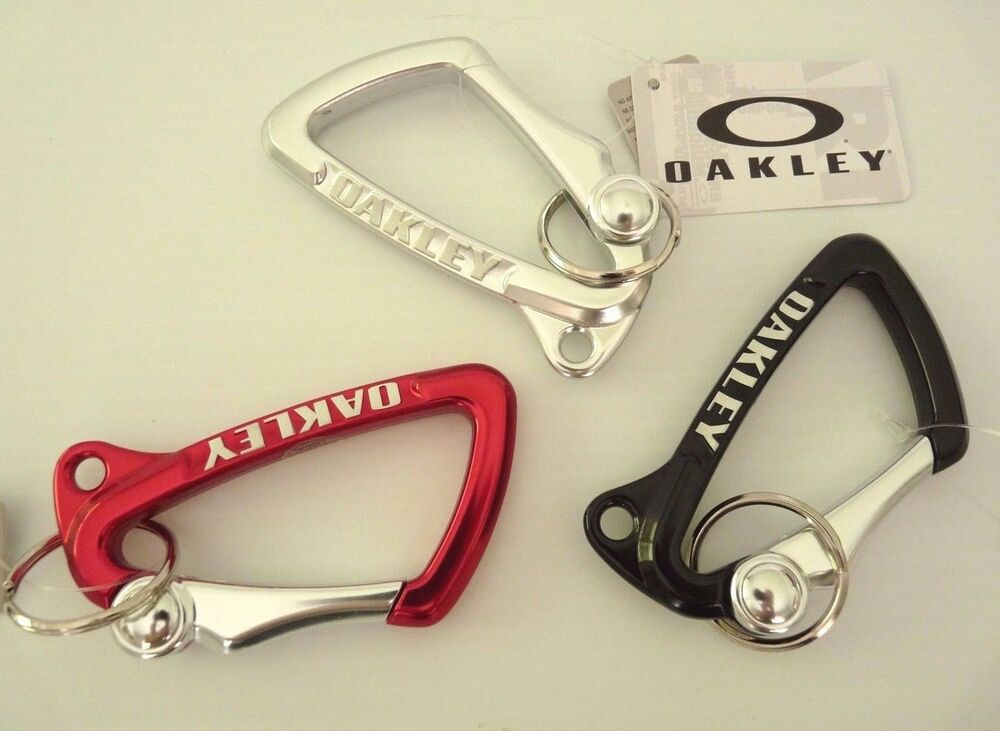 2c546283a93b6 Details about NEW LARGE OAKLEY CARABINER KEY CHAIN KEYCHAIN LANYARD ASS  COLORS 99173