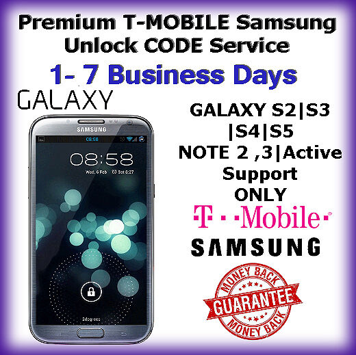 T-MOBILE Premium Samsung Galaxy S2 S3 S4 S5 Note 2,3 USA
