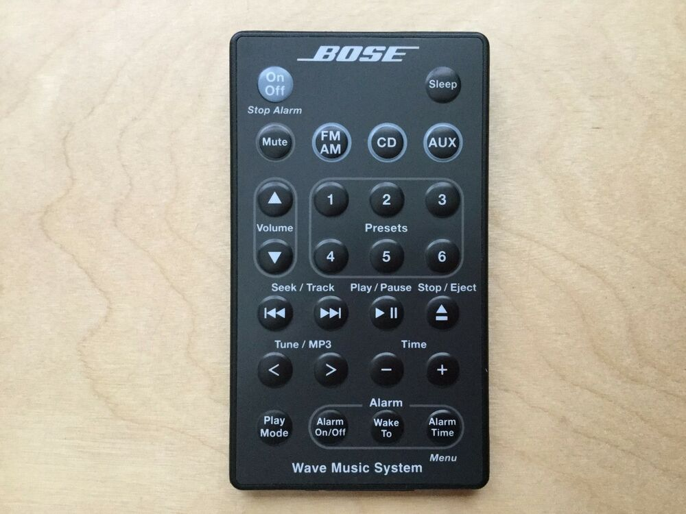 genuine bose wave music system awrcc1 awrcc2 remote control graphite ebay. Black Bedroom Furniture Sets. Home Design Ideas