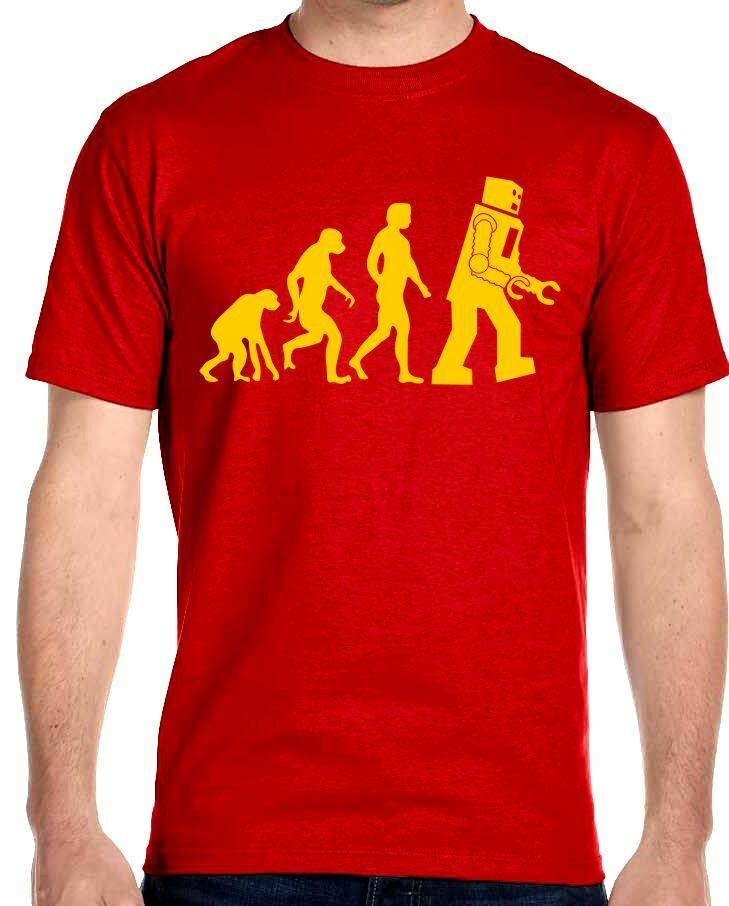 robot evolution t shirt big bang theory sheldon cooper ebay. Black Bedroom Furniture Sets. Home Design Ideas