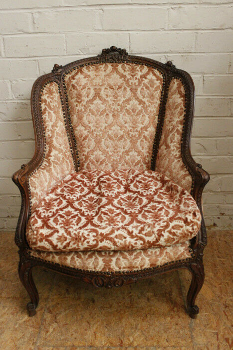 1112017 Single Antique French Louis Xv Style Bergere Arm