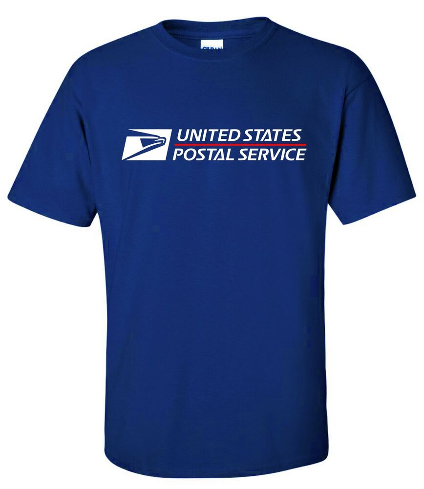 usps postal short sleeve tee t shirt logo on chest postal
