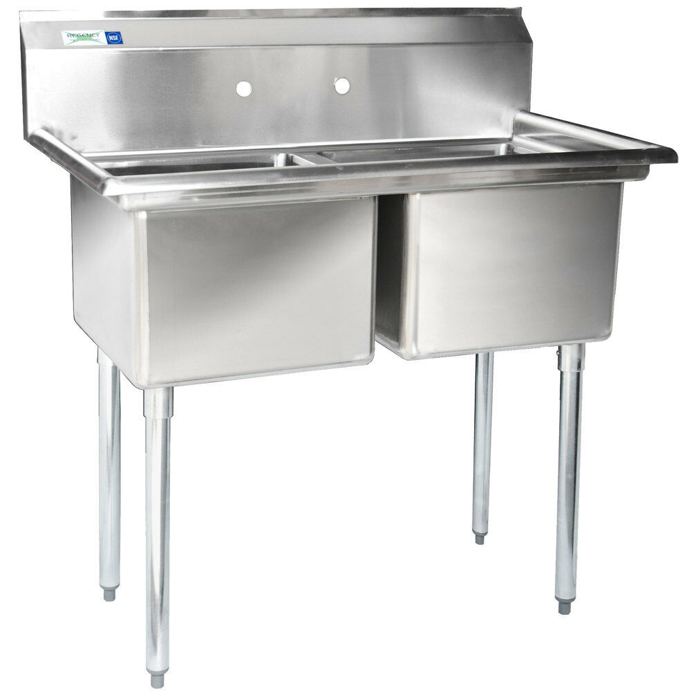Commercial Triple Sink : ... Compartment Stainless Steel Commercial Sink without Drainboards eBay