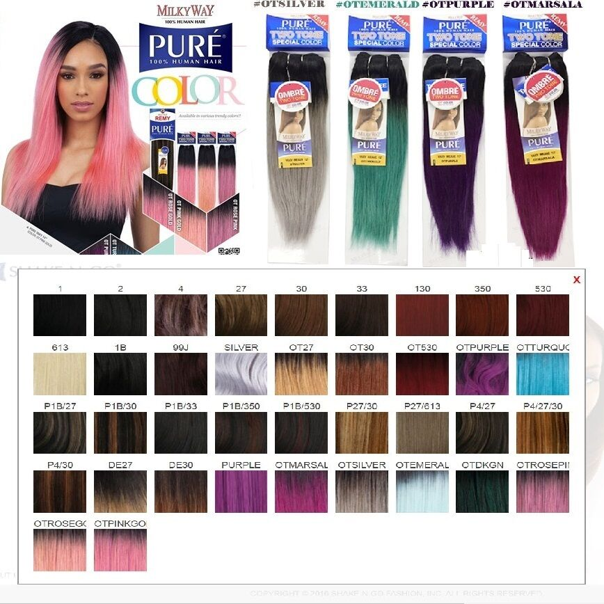Milkyway Pure 100 Human Hair Yaky Weave Special Colors