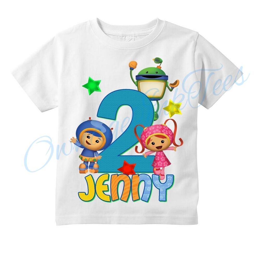 Team umizoomi custom t shirt personalize birthday tee for Custom t shirts for teams