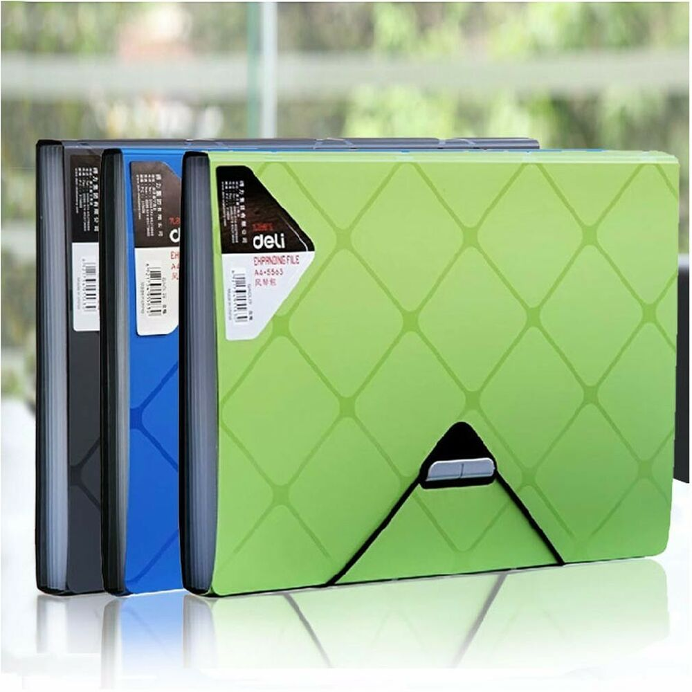 6 Pockets Accordion A4 Office Expanding File Folder