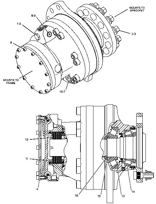 final drive motor    brand new    rc50    rc60    pt50    247