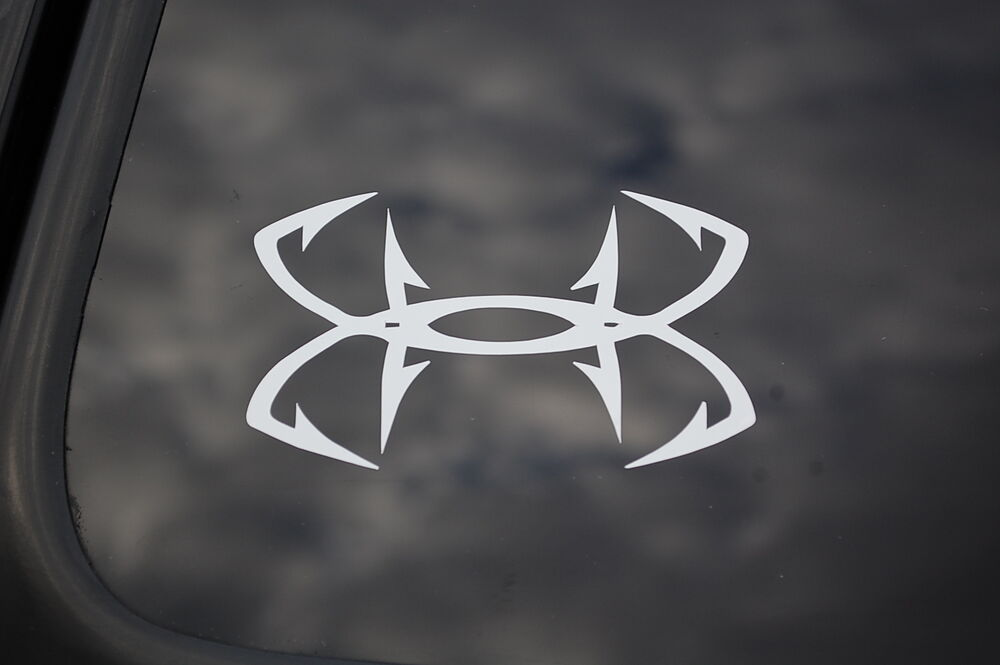 Truck Stickers For Back Window >> Under Armour Fishing Hooks Sticker Vinyl Decal Car Boat ...