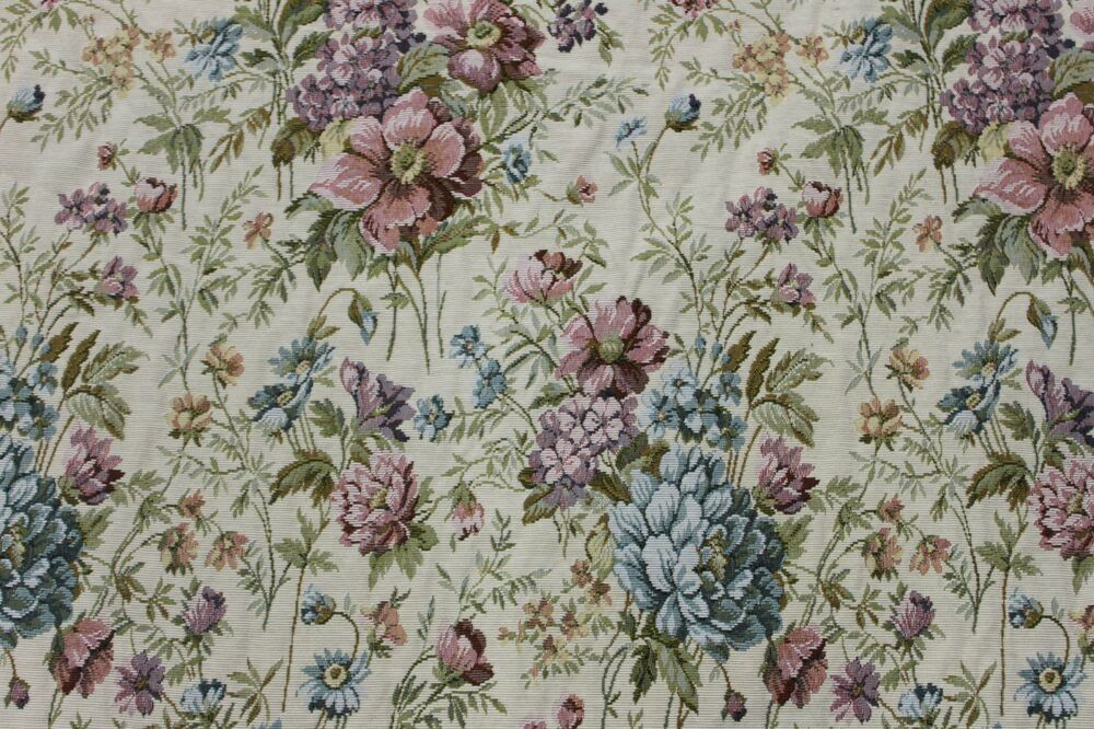 Cottage Floral Tapestry 6 Yds Upholstery Fabric Victorian