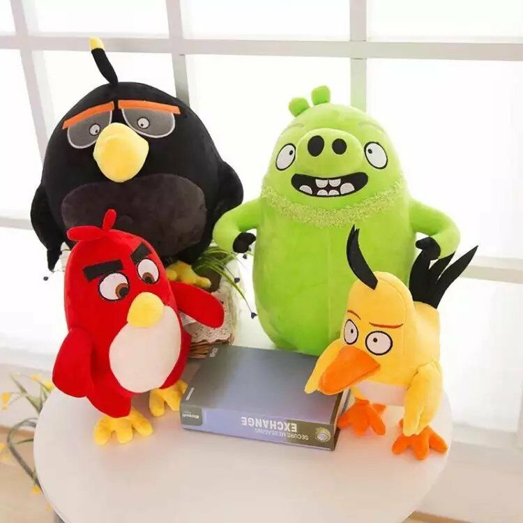25cm angry birds yellow red black soft plush toys stuffed animal dolls 4 styles ebay - Angry birds toys ebay ...