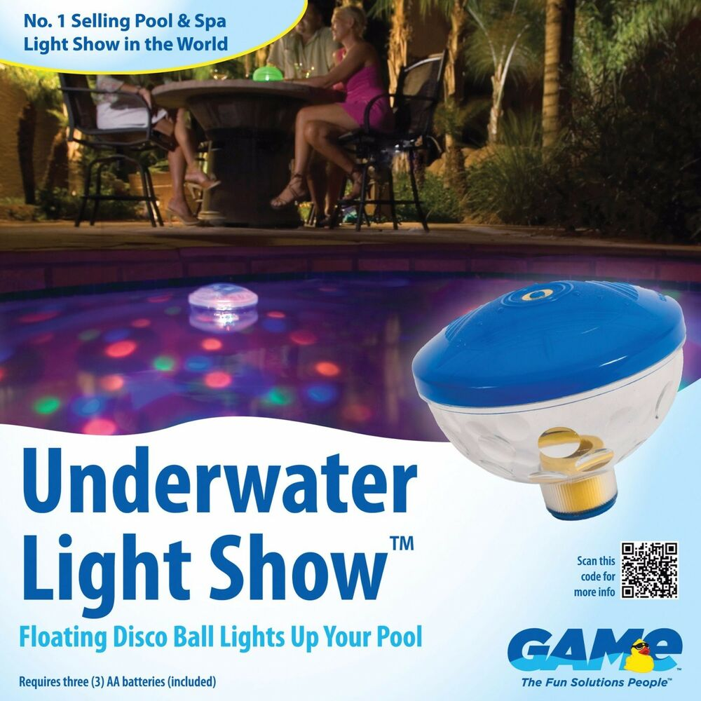 Swimming pool light floating underwater light show for Pool light show waikiki