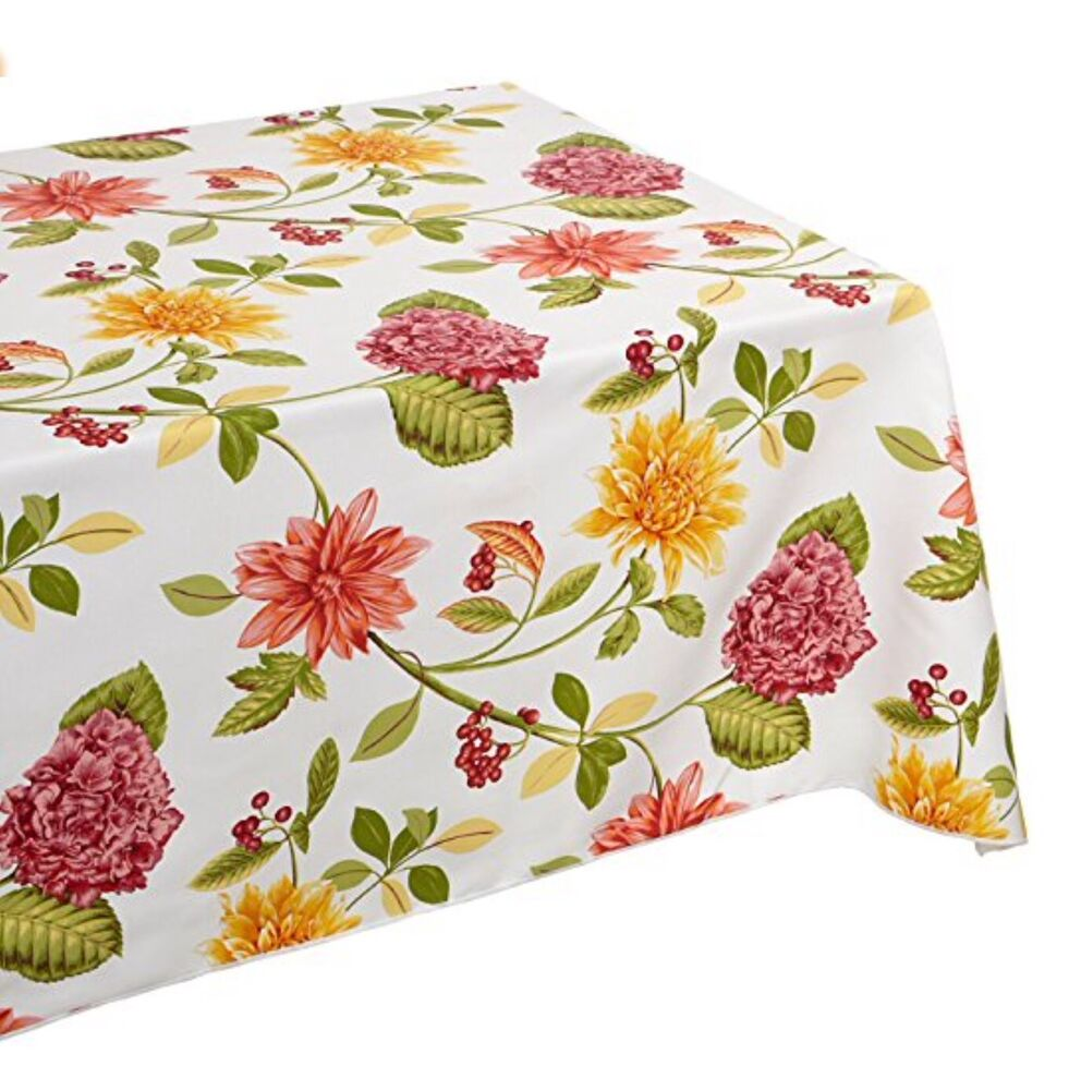 New Floral Paradise Indoor Outdoor Cloth Tablecloth Water