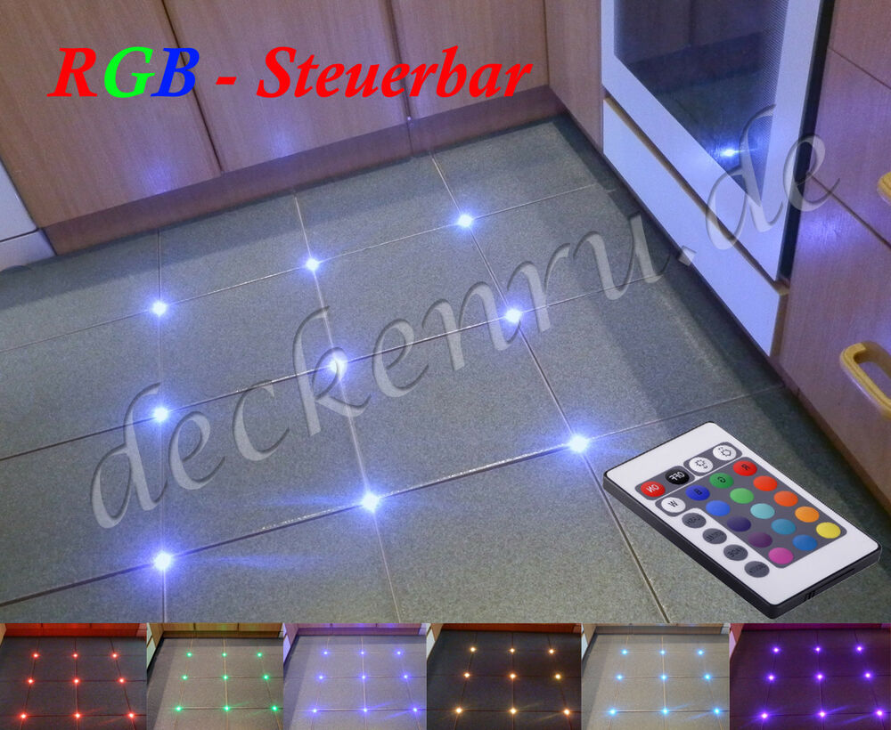tile led incl rgb controller joint light lighting crosslight groovelight ebay. Black Bedroom Furniture Sets. Home Design Ideas