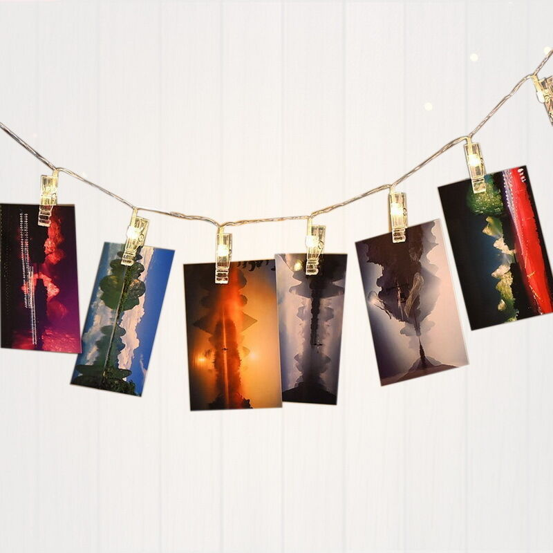 String Lights Photo Clips : 16 LED Photo Peg Clip String Light Lamp For Hanging Pictures Party Wedding Decor eBay