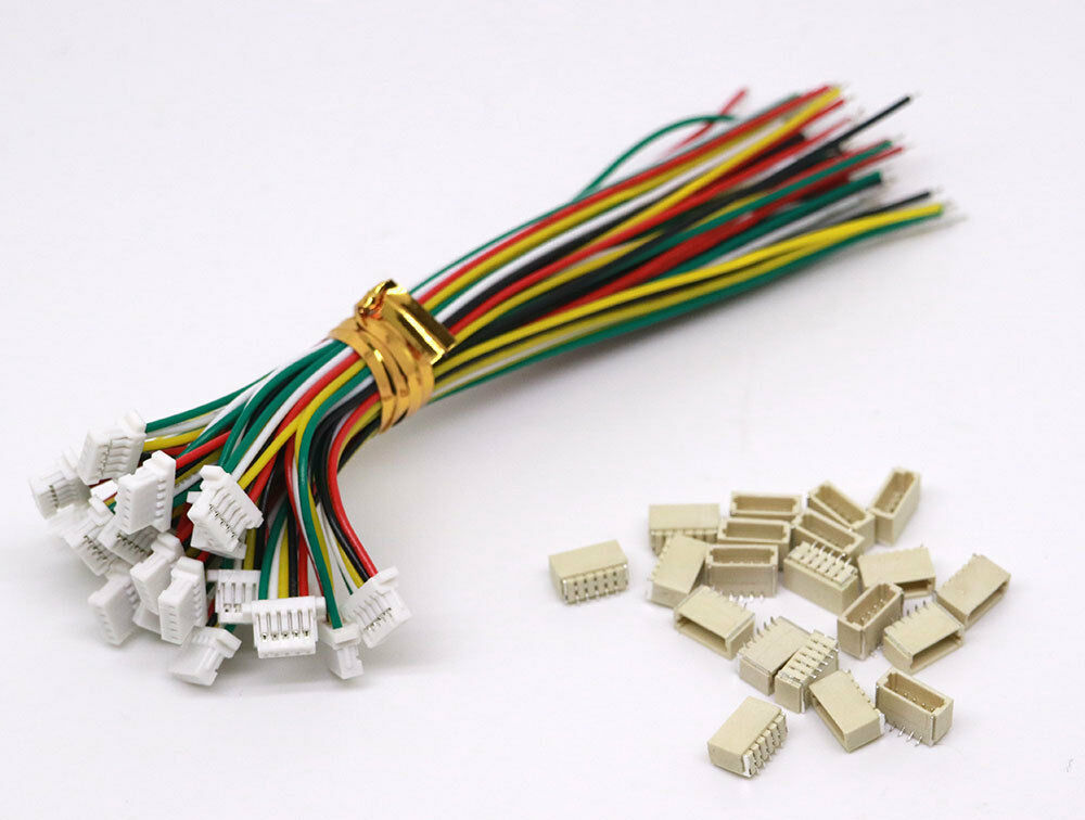 20 sets jst sh 1 0mm 5 pin connector plug male female with wire 100mm ebay. Black Bedroom Furniture Sets. Home Design Ideas