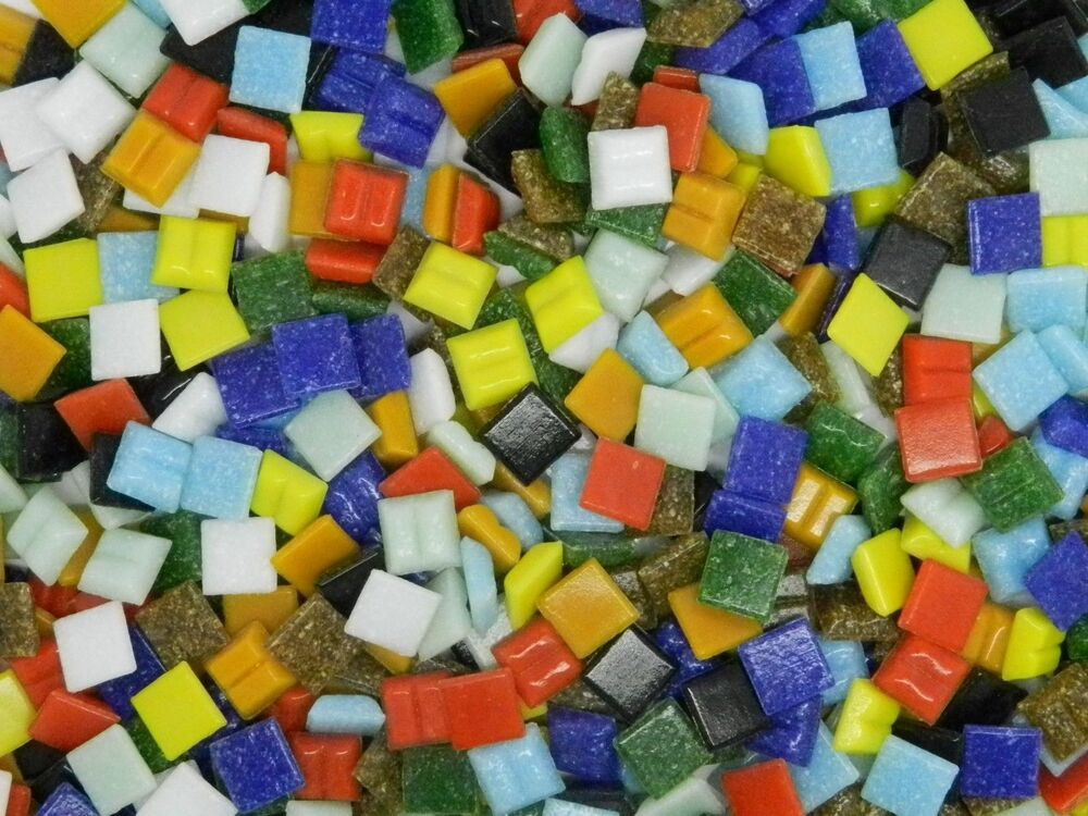 1600 vitreous glass mosaic tiles for arts crafts 10mm ebay for Mosaic tile for crafts