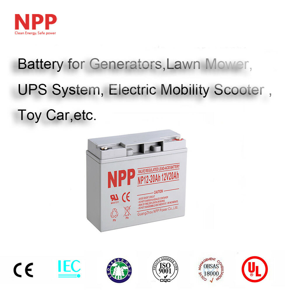 npp np12 20ah 12v 20ah rechargeable sealed lead acid. Black Bedroom Furniture Sets. Home Design Ideas