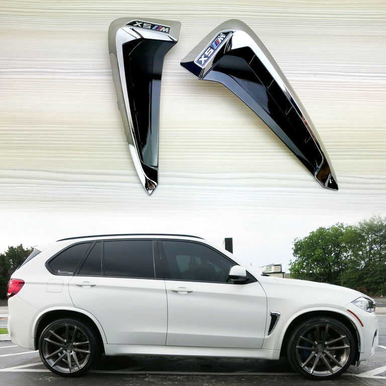 For Bmw F15 X5 M Type Marker Chrome Side Fender Air Wing
