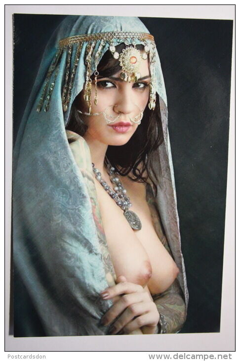 Details about modern russian Postcard Nude Risque Sexy girl nu nue erotic arab  woman