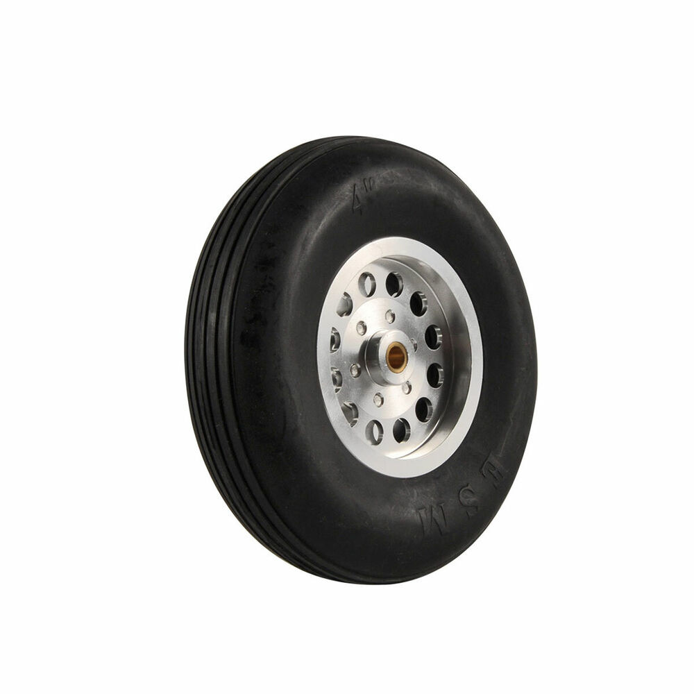 1 Pair 4inch Solid Rubber Wheels With Alu Hub For Rc