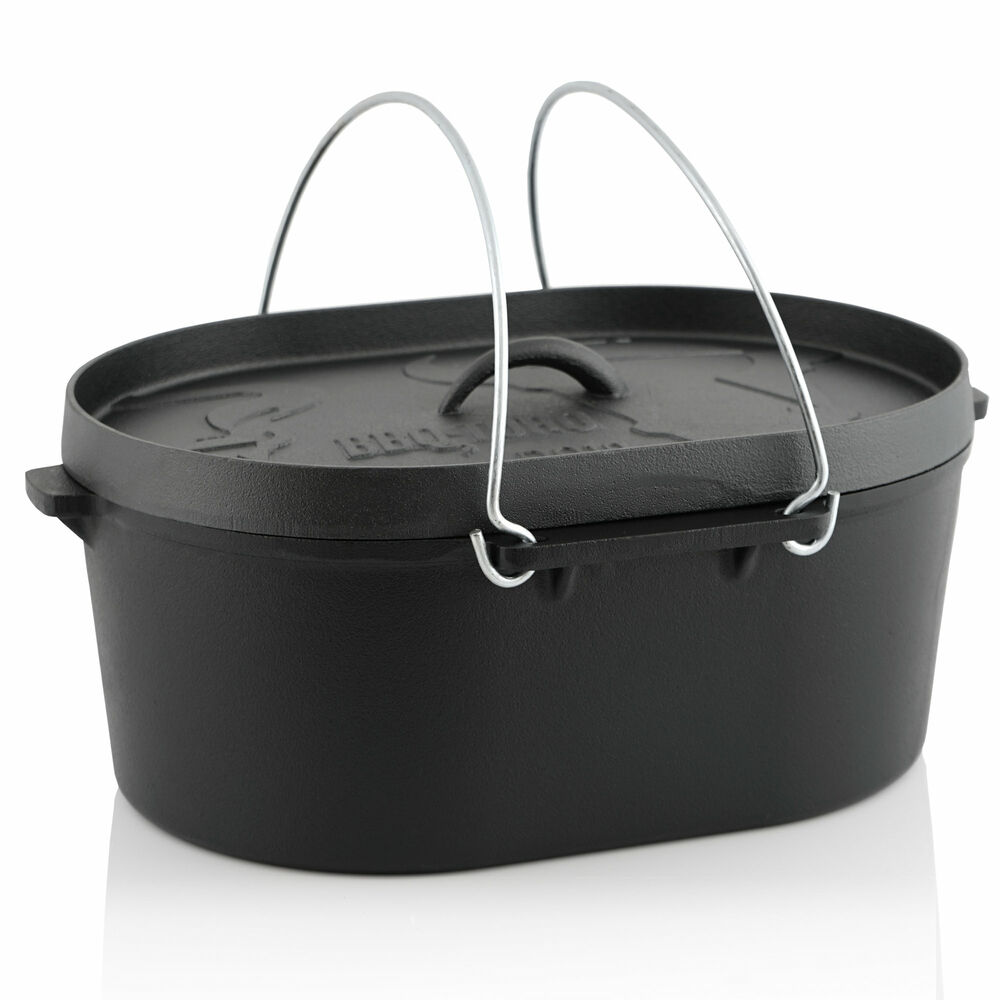 10 qt dutch oven topf do topf gusseisen kochtopf br ter ebay. Black Bedroom Furniture Sets. Home Design Ideas