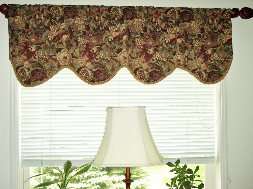 Jc Penney 2 Tapestry Scalloped Valances 18 Quot X 51 5
