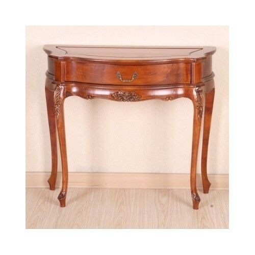 Foyer Storage Console Table : Vintage entryway hall console table hand carved storage