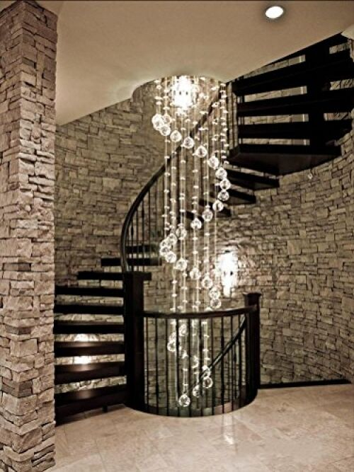 Mordern Floor Ceiling Lights Stunning Rain Drop Crystal
