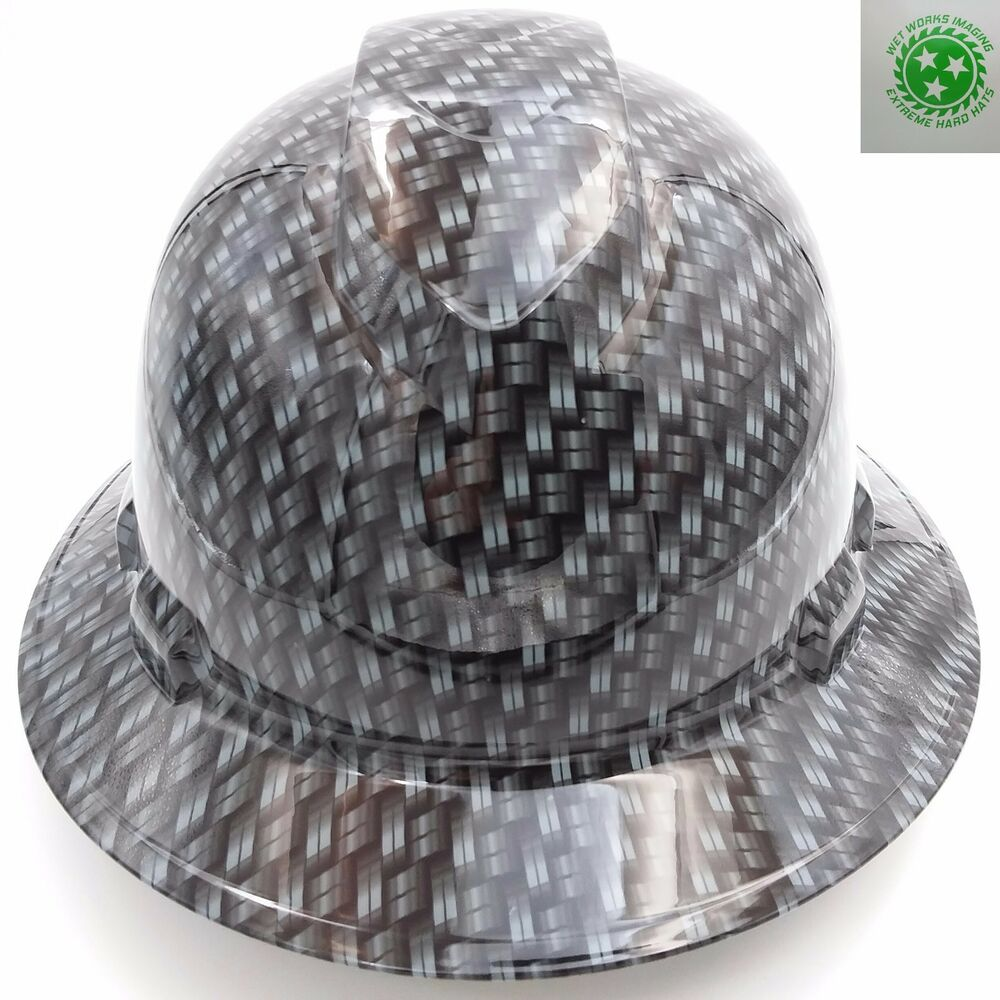 Custom pyramex full brim hard hat w ratchet suspension for Suspension decorative