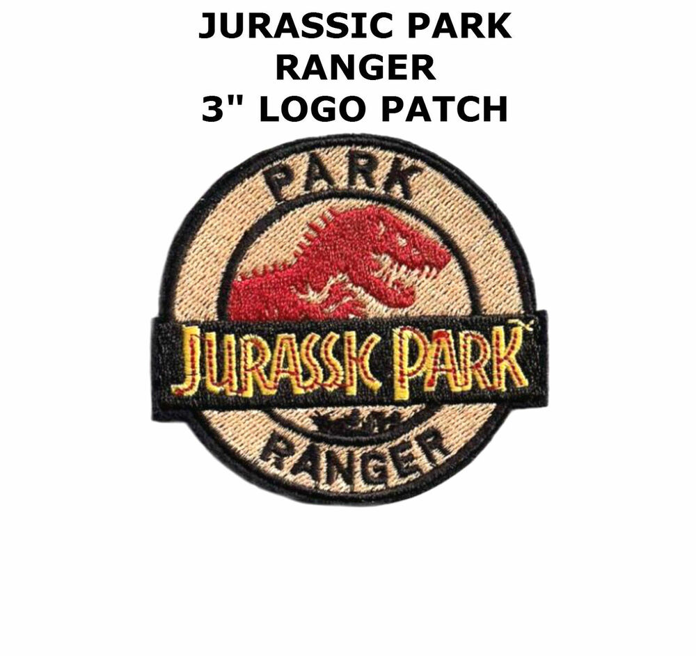 Jurassic Park Movie Park Ranger Logo Embroidered Patch New Unused