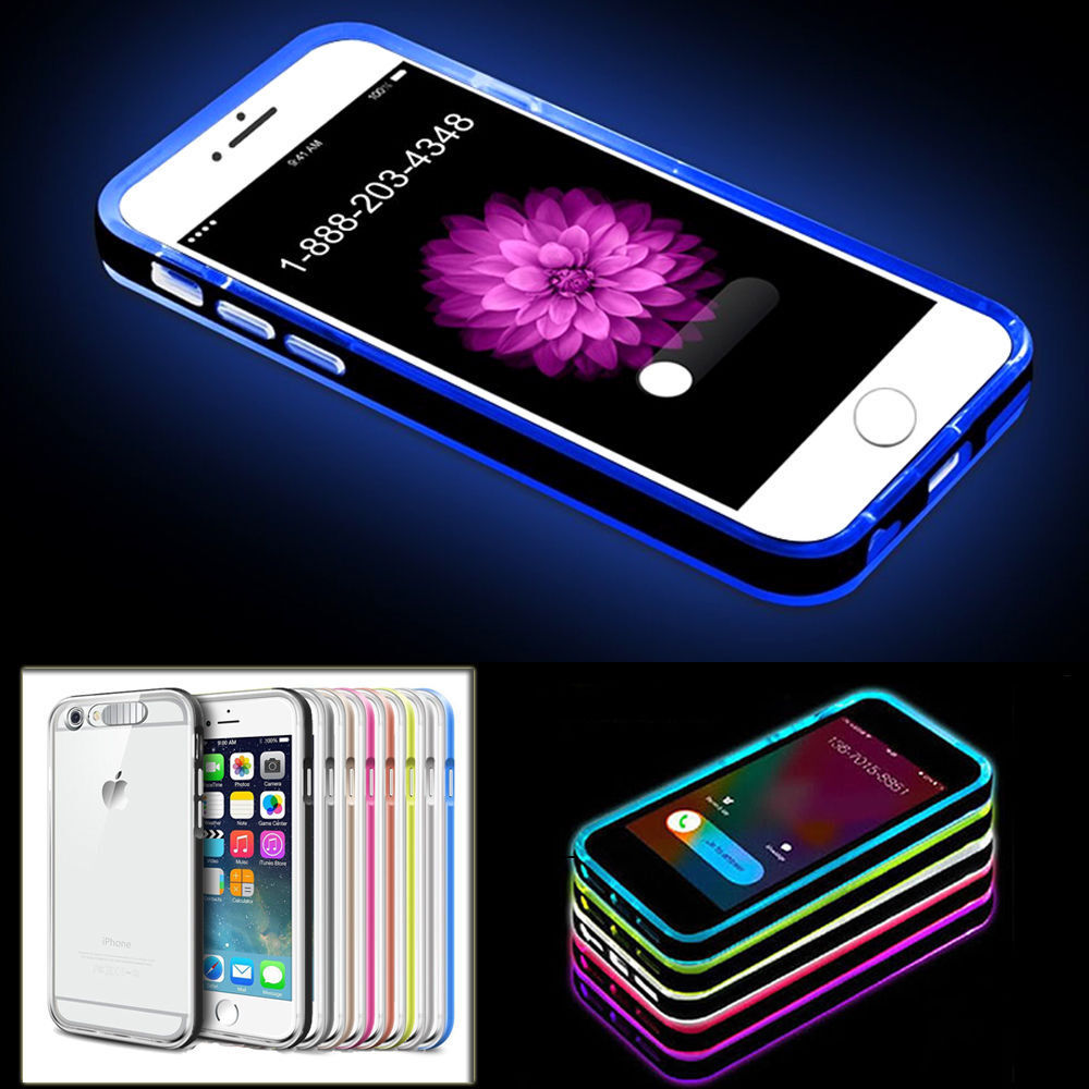 LED Flash Light UP Remind Incoming Call Cover Case Skin For iPhone 5/5S 6/6S + eBay