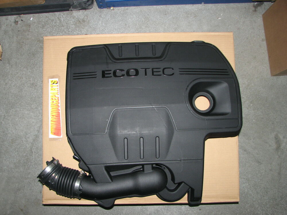 Gm Oem Eco Tec Air Intake Outlet Duct Black Engine Cover