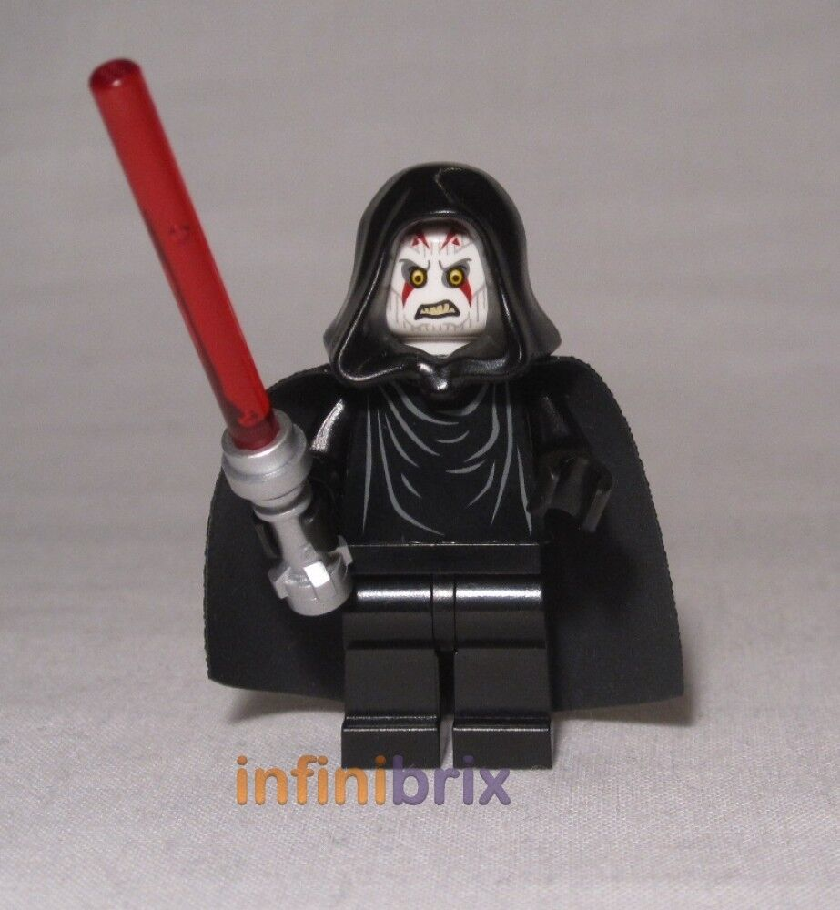 Lego Custom Sith Lord with Hood + Cape Star Wars Minifig ...