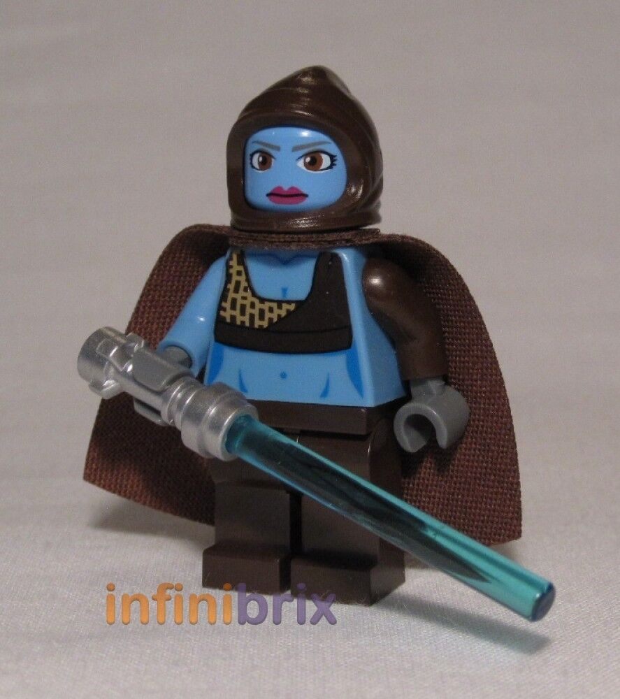lego custom aayla secura with hood star wars twi 39 lek minifigure brand new cus236 ebay. Black Bedroom Furniture Sets. Home Design Ideas