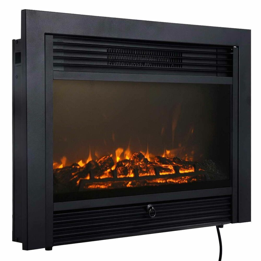 28 5 Fireplace Electric Embedded Insert Heater Glass View Log Flame Remote Home Ebay