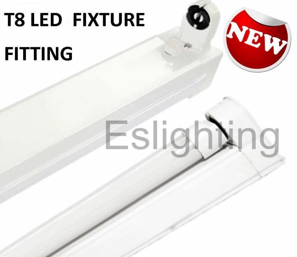 T8 Light Fixture 2ft: 4X SINGLE FIXTURE T8 600MM 2FT FITTING BATTEN FOR LED TUBE